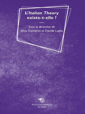 cover image of L'Italian Theory existe-t-elle?