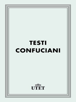 cover image of Testi confuciani