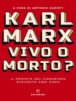 cover image of Karl Marx. Vivo o morto?