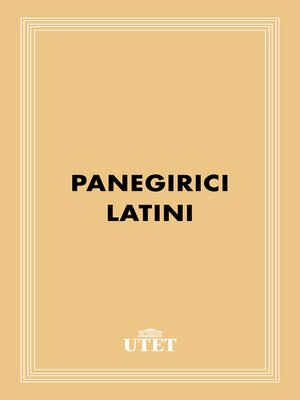 cover image of Panegirici Latini