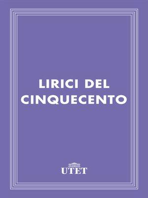 cover image of Lirici del Cinquecento