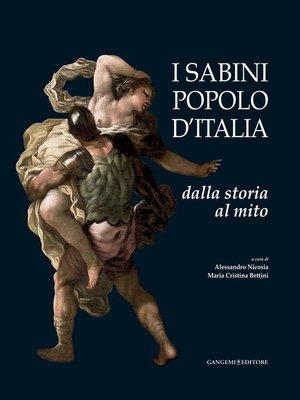 cover image of I Sabini popolo d'Italia