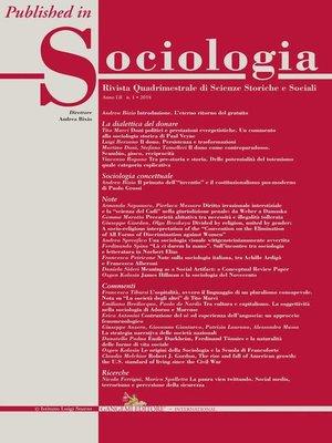 """cover image of """"Là ci darem la mano"""". Sull'incontro tra sociologia e letteratura in Norbert Elias"""