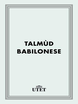 cover image of Talmùd babilonese