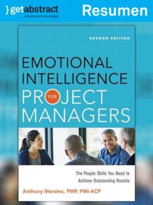 cover image of Inteligencia emocional para los gerentes de proyectos (resumen)