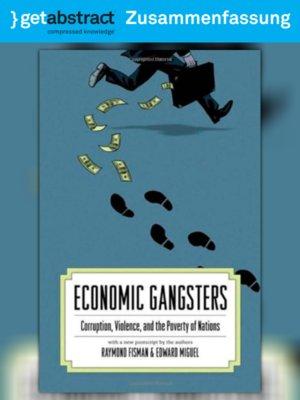 cover image of Economic Gangsters (Zusammenfassung)