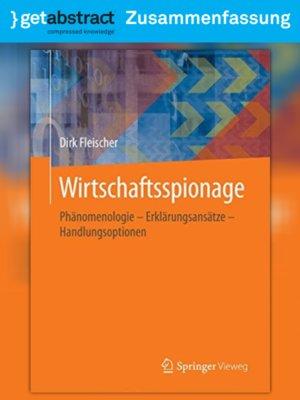 cover image of Wirtschaftsspionage (Zusammenfassung)