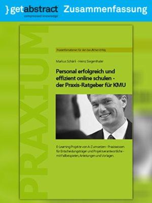 cover image of Personal erfolgreich und effizient online schulen (Zusammenfassung)