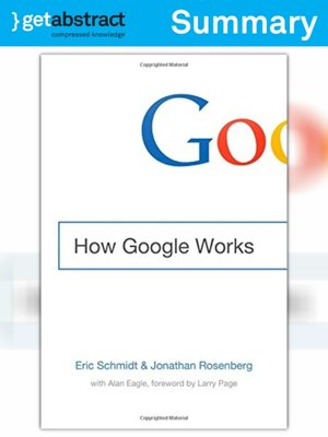 cover image of How Google Works (Summary)