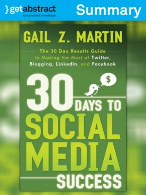 cover image of 30 Days to Social Media Success (Summary)