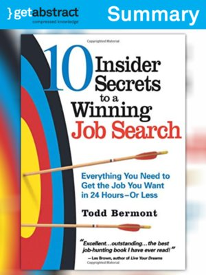 cover image of 10 Insider Secrets to a Winning Job Search (Summary)