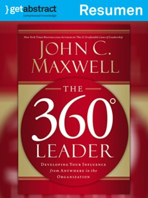 cover image of El líder de 360 grados (resumen)