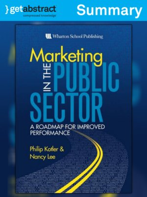 cover image of Marketing in the Public Sector (Summary)