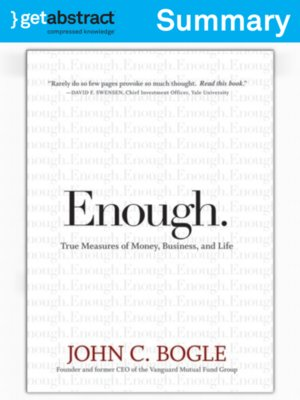 cover image of Enough. (Summary)