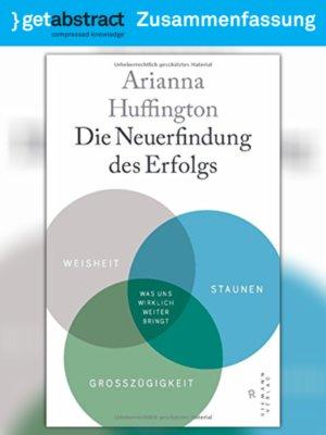 cover image of Die Neuerfindung des Erfolgs (Zusammenfassung)