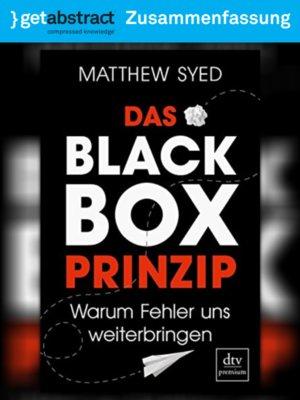 cover image of Das Black-Box-Prinzip (Zusammenfassung)