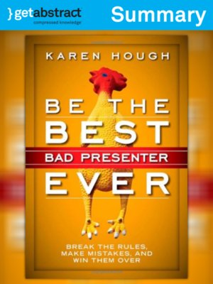 cover image of Be the Best Bad Presenter Ever (Summary)