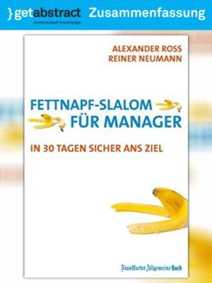 cover image of Fettnapf-Slalom für Manager (Zusammenfassung)