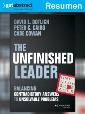 cover image of El líder incompleto (resumen)