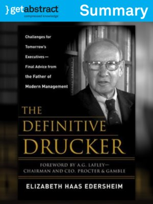 cover image of The Definitive Drucker (Summary)