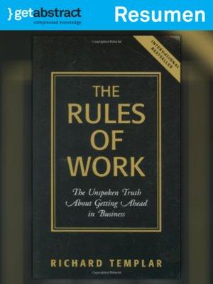 cover image of Las reglas del trabajo (resumen)