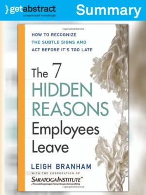 cover image of The 7 Hidden Reasons Employees Leave (Summary)