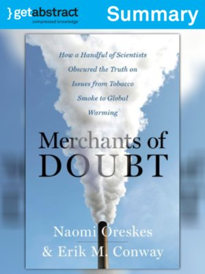 oreskes and conway merchants of doubt pdf