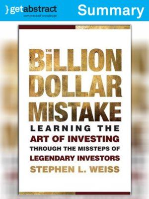 cover image of The Billion Dollar Mistake (Summary)