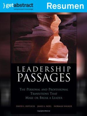 cover image of Pasos de transición para el liderazgo (resumen)