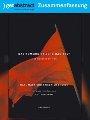 cover image of Das kommunistische Manifest (Zusammenfassung)