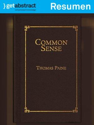 cover image of El sentido común (resumen)