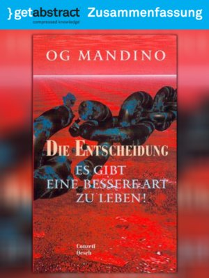 cover image of Die Entscheidung (Zusammenfassung)