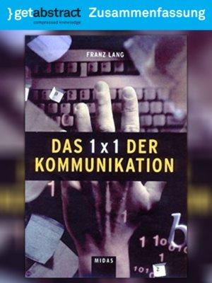cover image of Das 1x1 der Kommunikation (Zusammenfassung)