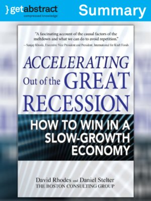 cover image of Accelerating Out of the Great Recession (Summary)