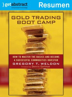 cover image of Reglas para negociar oro (resumen)