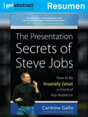 cover image of Las presentaciones: secretos de Steve Jobs (resumen)