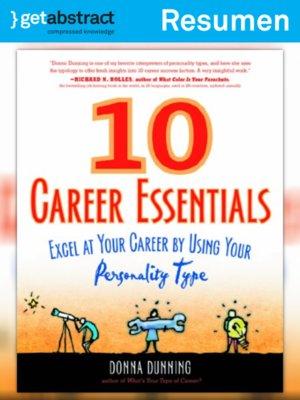 cover image of 10 elementos fundamentales para la trayectoria profesional (resumen)
