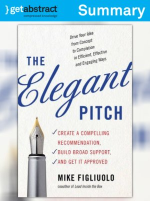 cover image of The Elegant Pitch (Summary)