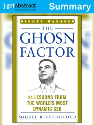 cover image of The Ghosn Factor (Summary)