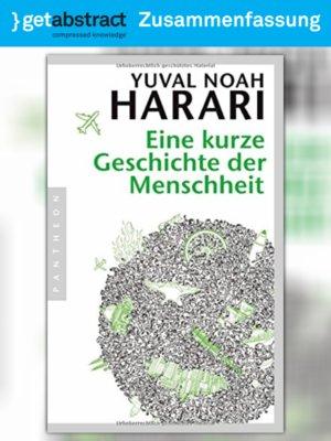 cover image of Eine kurze Geschichte der Menschheit (Zusammenfassung)