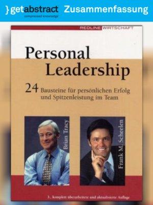 cover image of Personal Leadership (Zusammenfassung)
