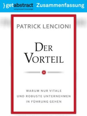 cover image of Der Vorteil (Zusammenfassung)