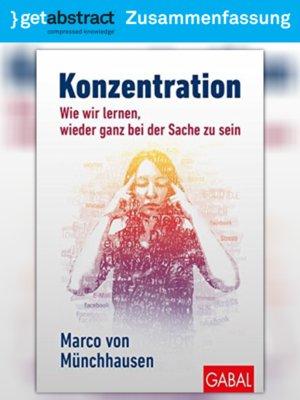 cover image of Konzentration (Zusammenfassung)