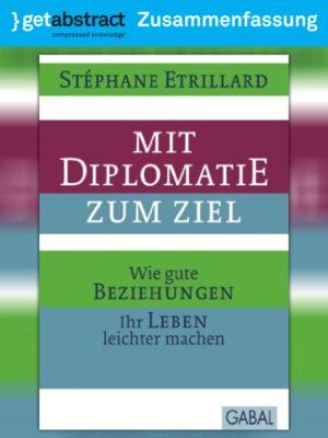 cover image of Mit Diplomatie zum Ziel (Zusammenfassung)