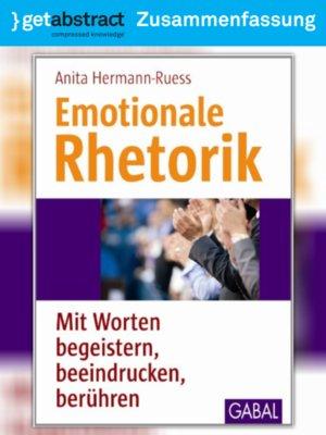 cover image of Emotionale Rhetorik (Zusammenfassung)