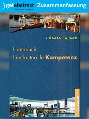 cover image of Handbuch Interkulturelle Kompetenz (Zusammenfassung)