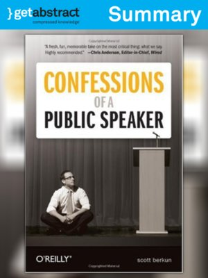 cover image of Confessions of a Public Speaker (Summary)