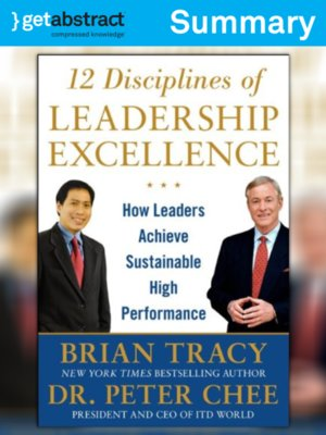 cover image of 12 Disciplines of LeadershipExcellence (Summary)