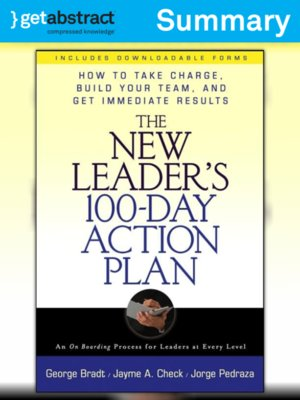 cover image of The New Leader's 100-Day Action Plan (Summary)