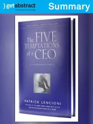 cover image of The Five Temptations of a CEO (Summary)